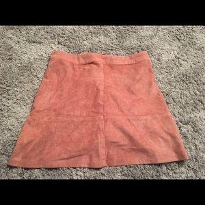 Lulus velvet skirt